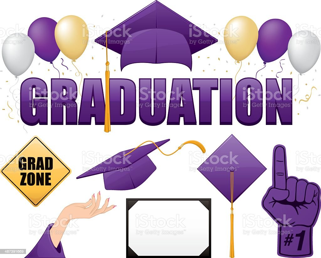 Graduation Collection royalty-free stock vector art