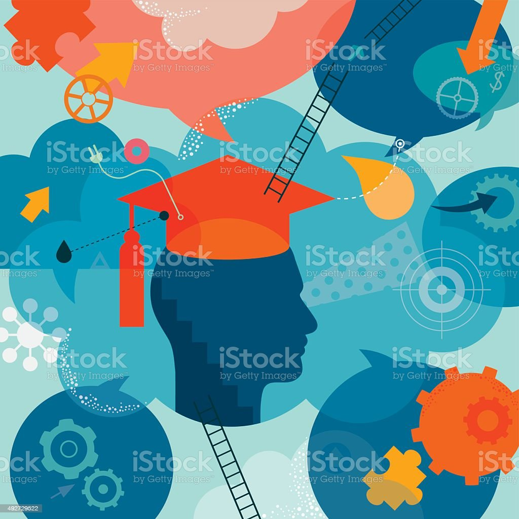 Graduation Concept vector art illustration