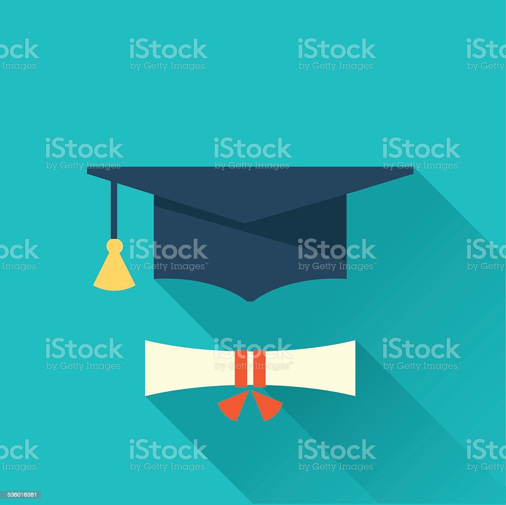 graduation cup icon vector art illustration