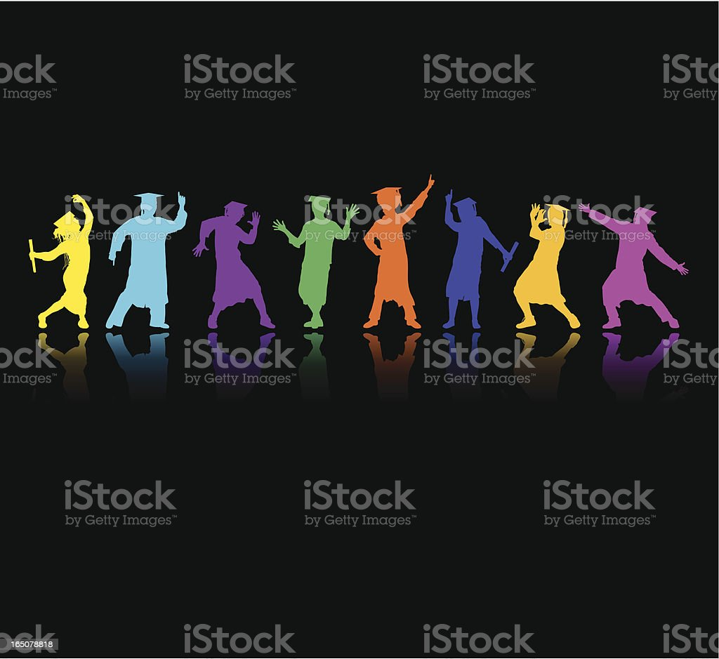 Graduation Disco royalty-free stock vector art