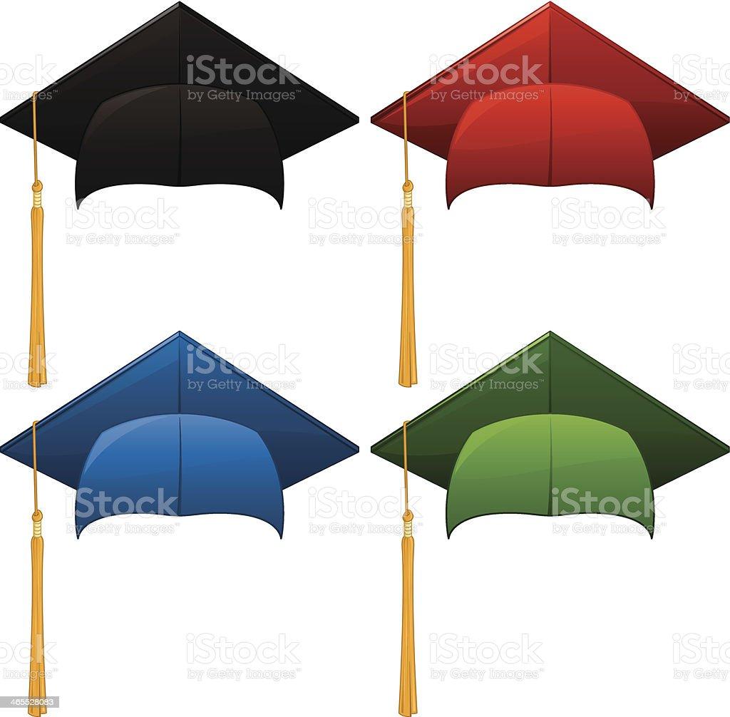 Graduation Hats royalty-free stock vector art