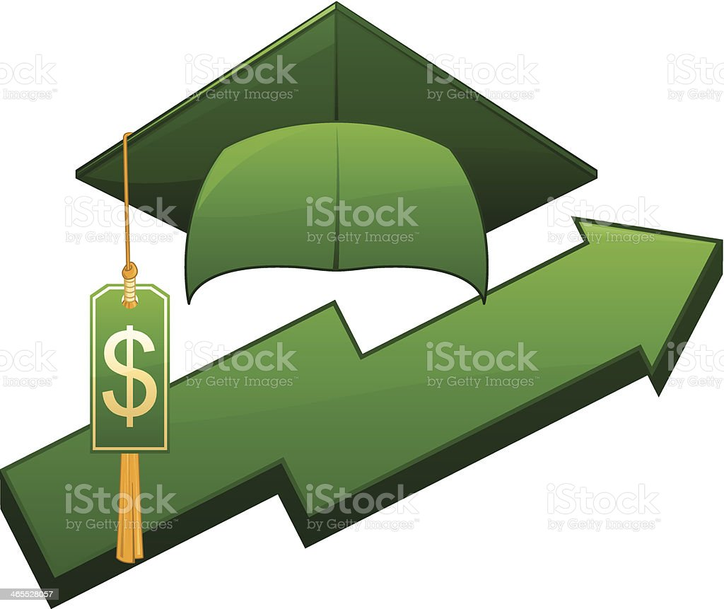 Graduation Inflation royalty-free stock vector art