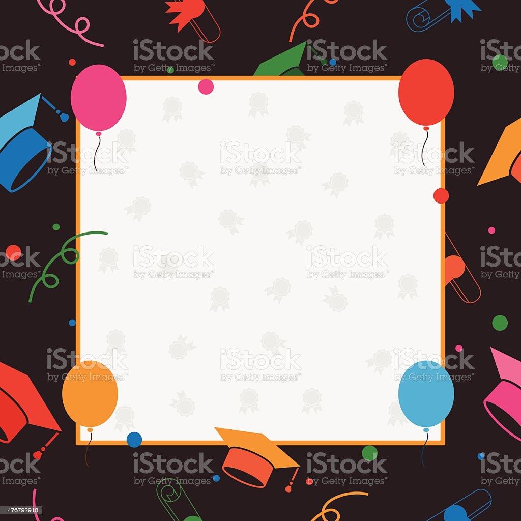 abschlussfeier einladung oder postkarte zertifikat vorlage vektor, Einladungen