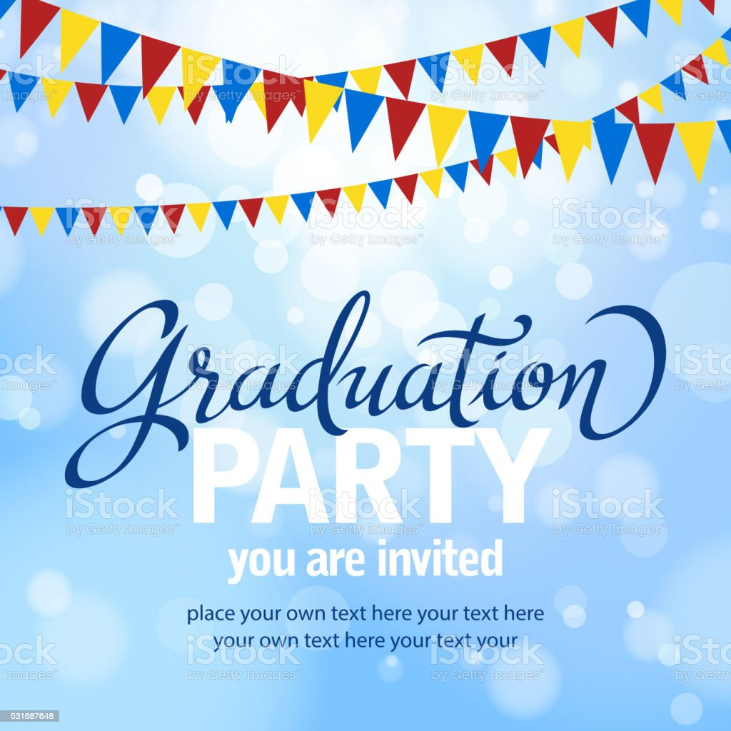 Graduation Party vector art illustration