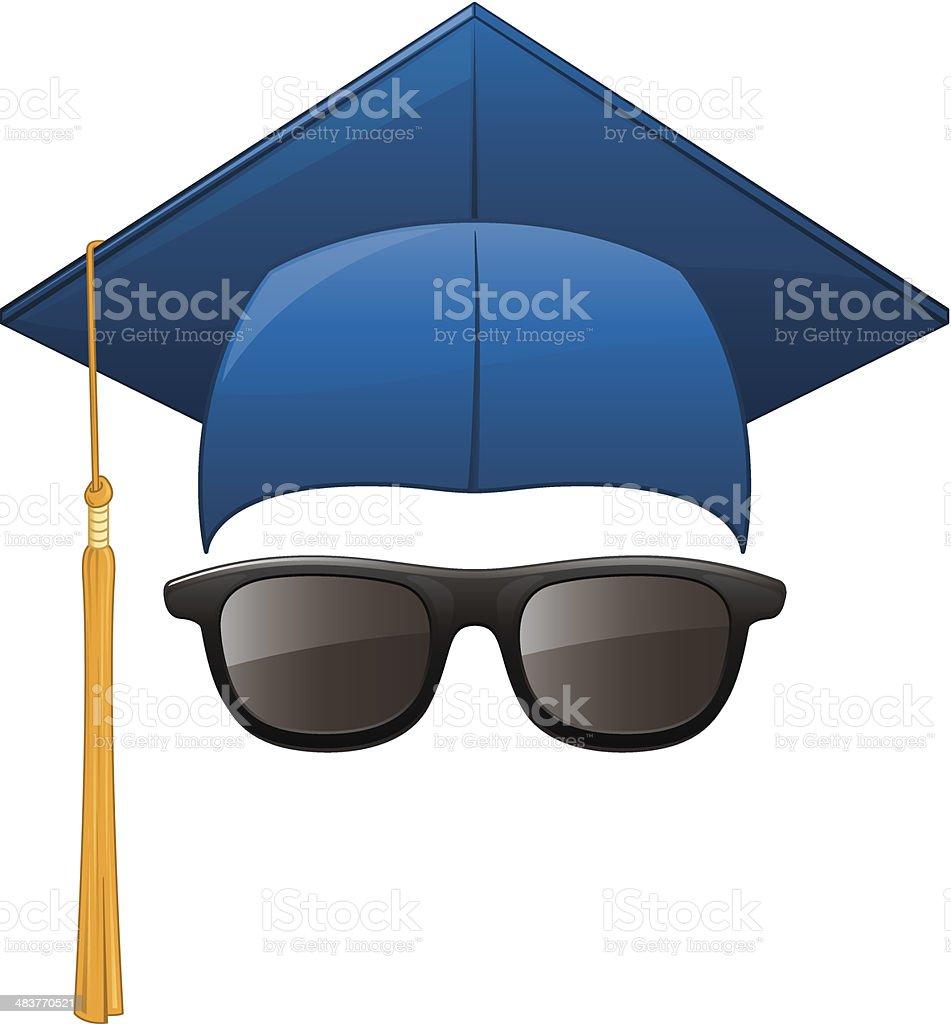Graduation Sunglasses royalty-free stock vector art