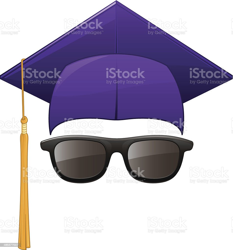 Graduation Sunglasses royalty-free stock vector art