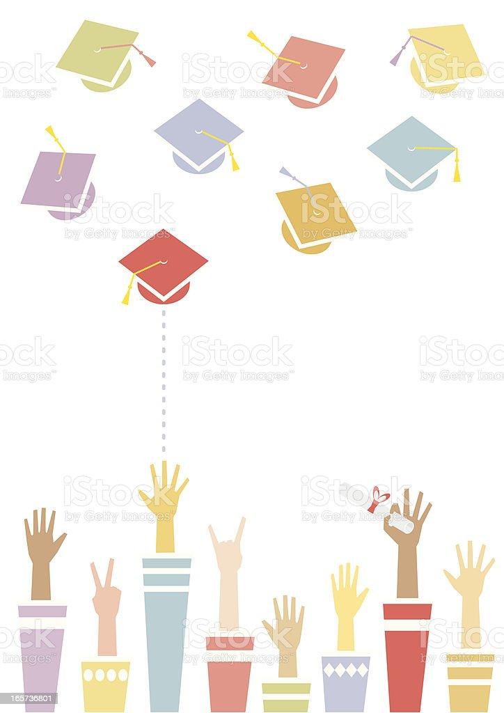 Graduation Toss vector art illustration