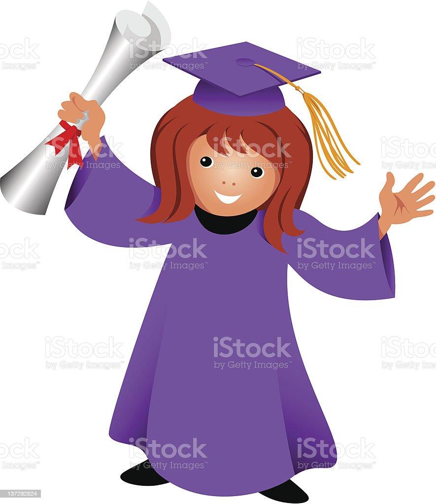 Graduation vector art illustration