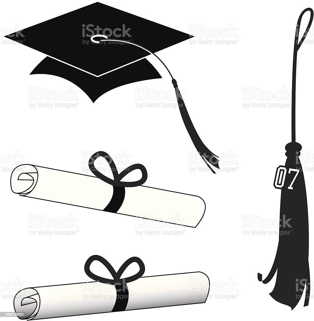 Graduation royalty-free stock vector art