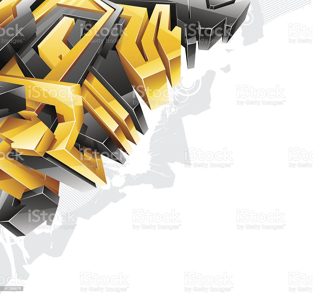 Graffiti. Abstract background.. Top-left corner. royalty-free stock vector art