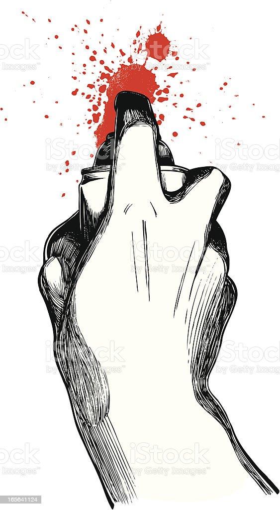 Graffiti Artist vector art illustration