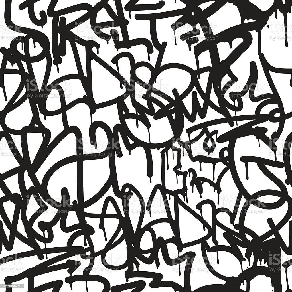 Graffiti background seamless pattern vector art illustration