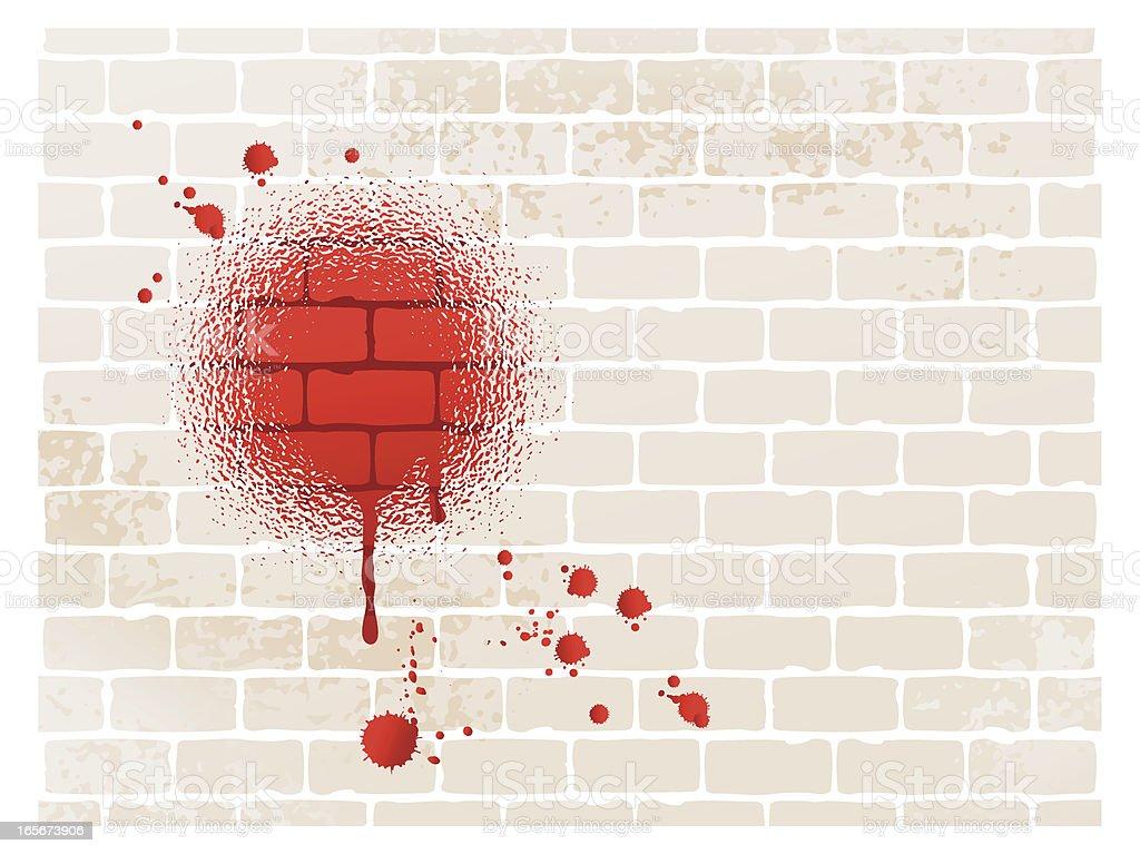 graffiti blood royalty-free stock vector art