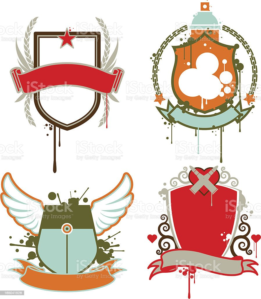 graffiti emblems royalty-free stock vector art