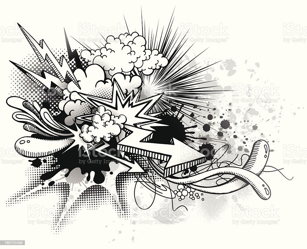 Graffiti Explosion royalty-free stock vector art