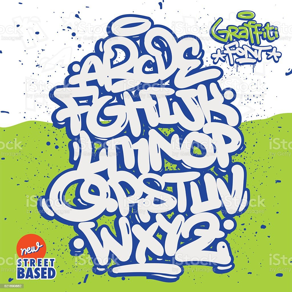 Graffiti Font vector art illustration
