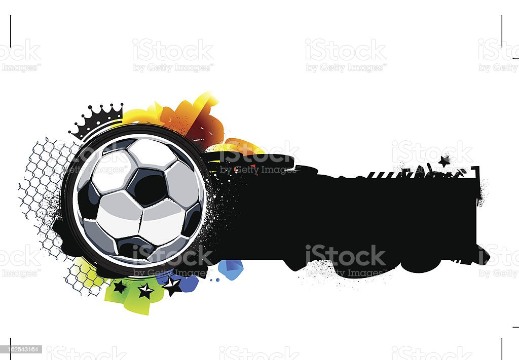 Graffiti image with soccer ball royalty-free stock vector art