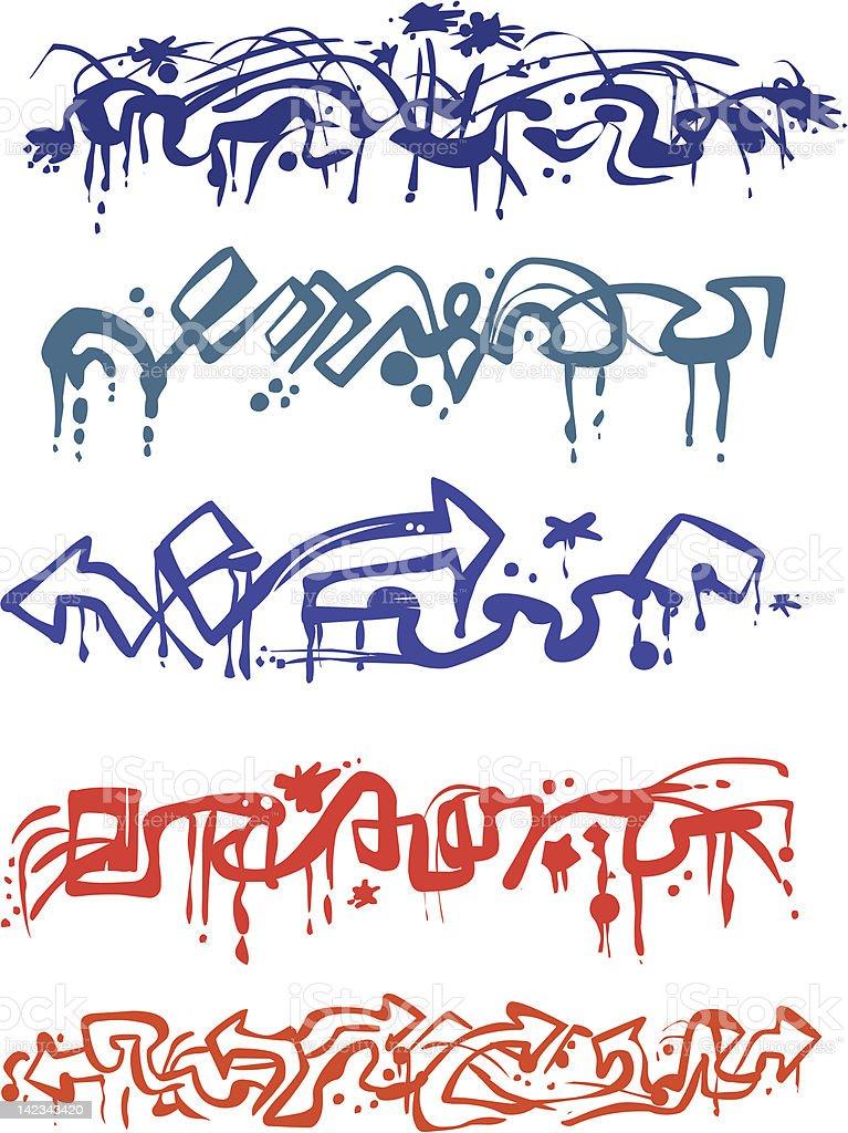 Graffiti Pack royalty-free stock vector art