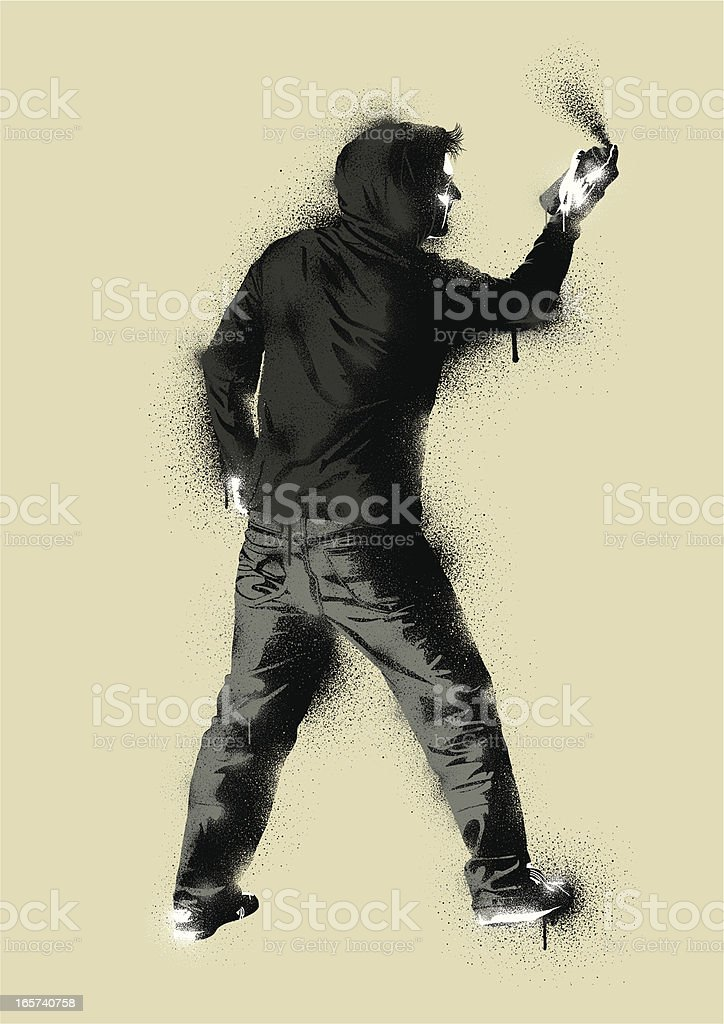 Graffiti Stencil Urban Artist vector art illustration