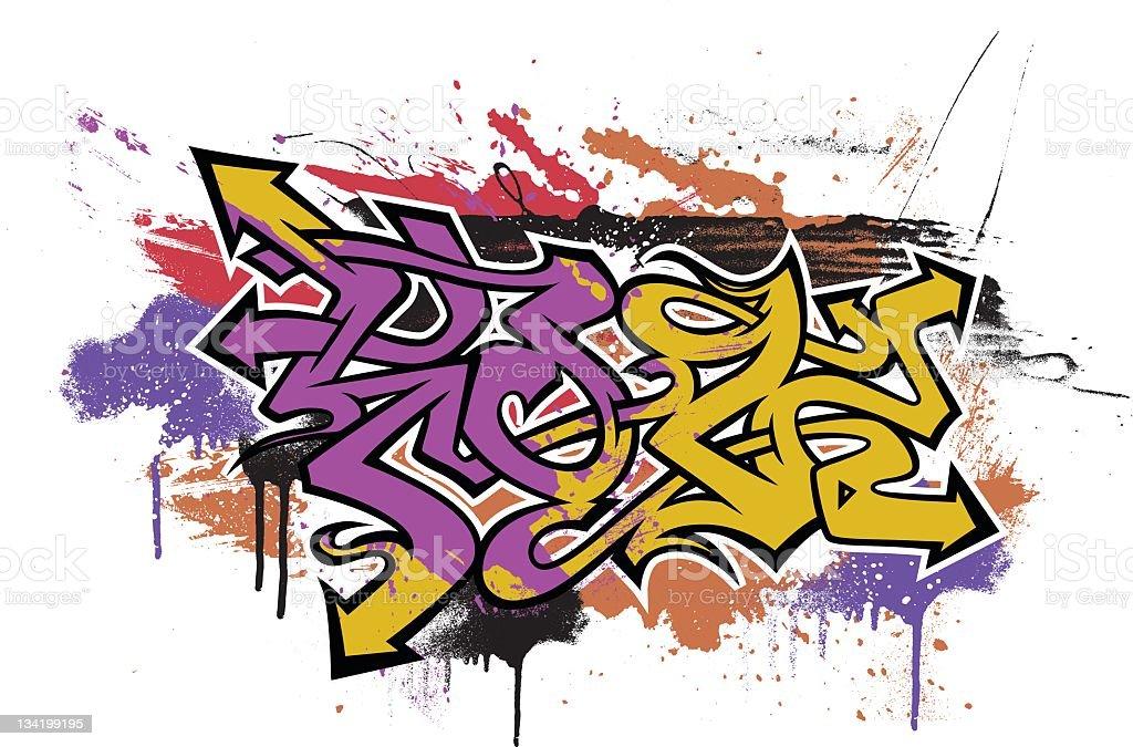 Graffiti Themed Illustration stock photo