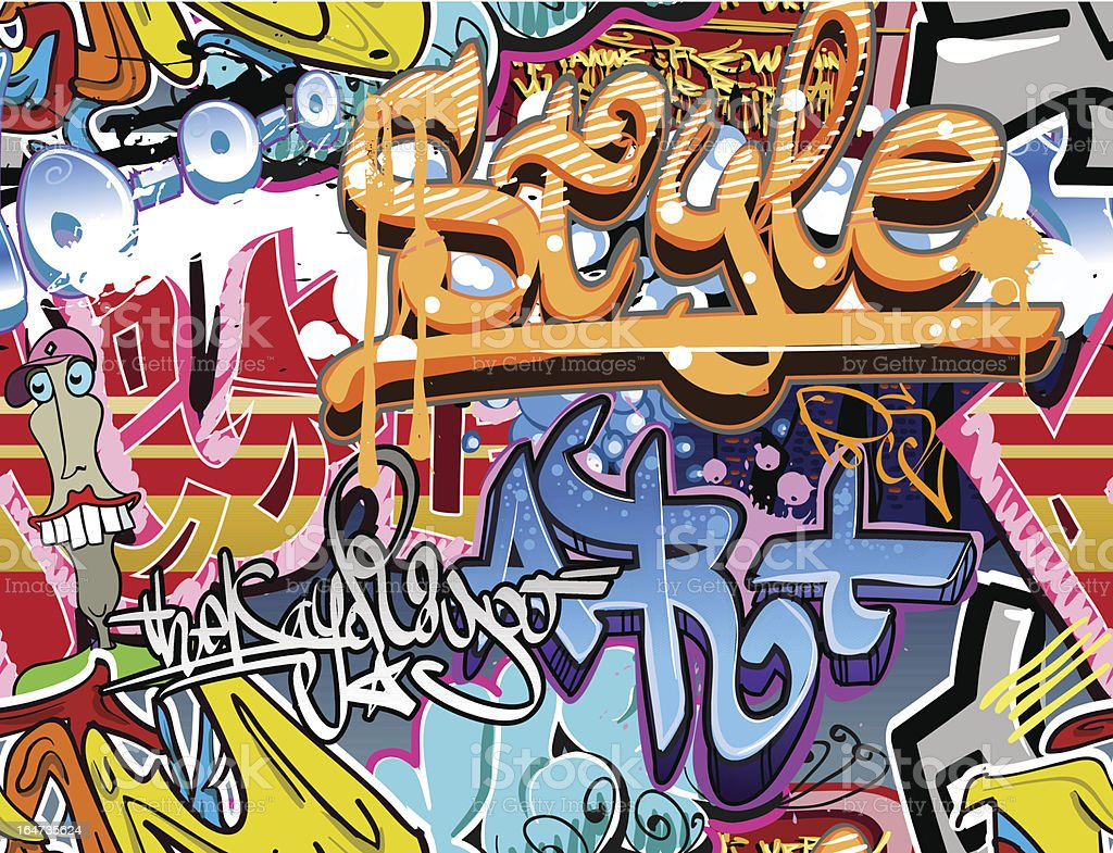 Graffiti urban art background vector art illustration