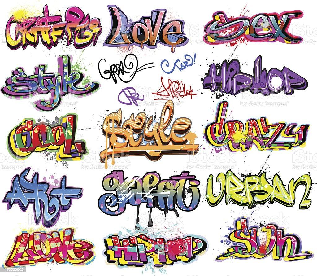 Graffiti art designs - Graffiti Urban Art Design Royalty Free Stock Vector Art