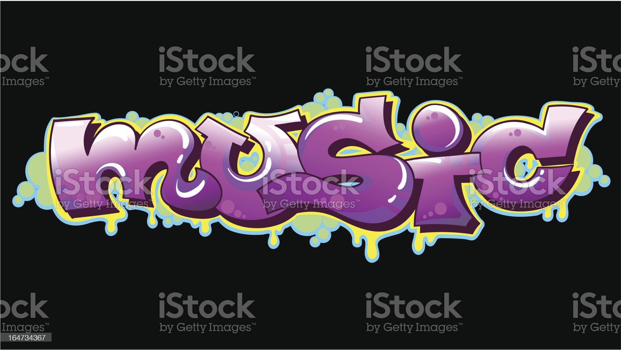 Graffiti urban art royalty-free stock vector art