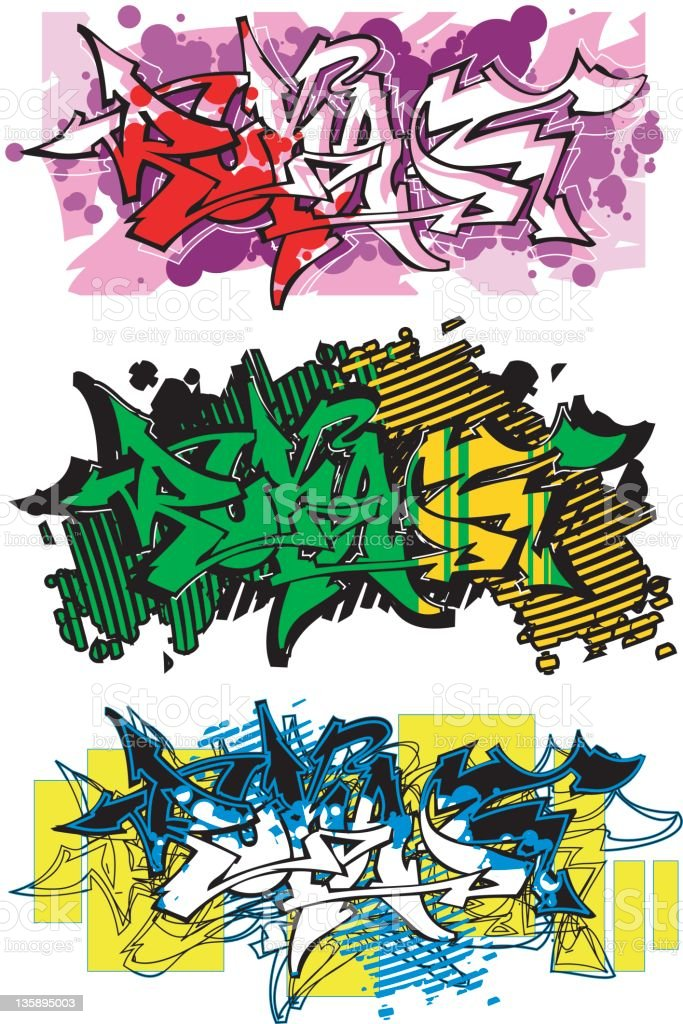 graffiti (vector) stock photo