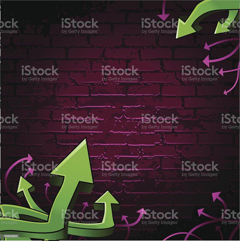 Graffiti wall vector art illustration