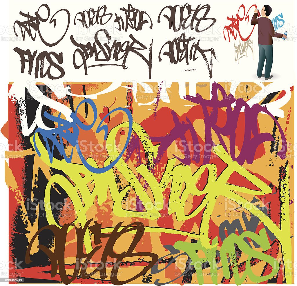 grafitti tag royalty-free stock vector art