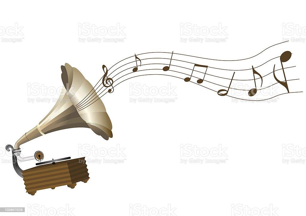 gramophone royalty-free stock vector art