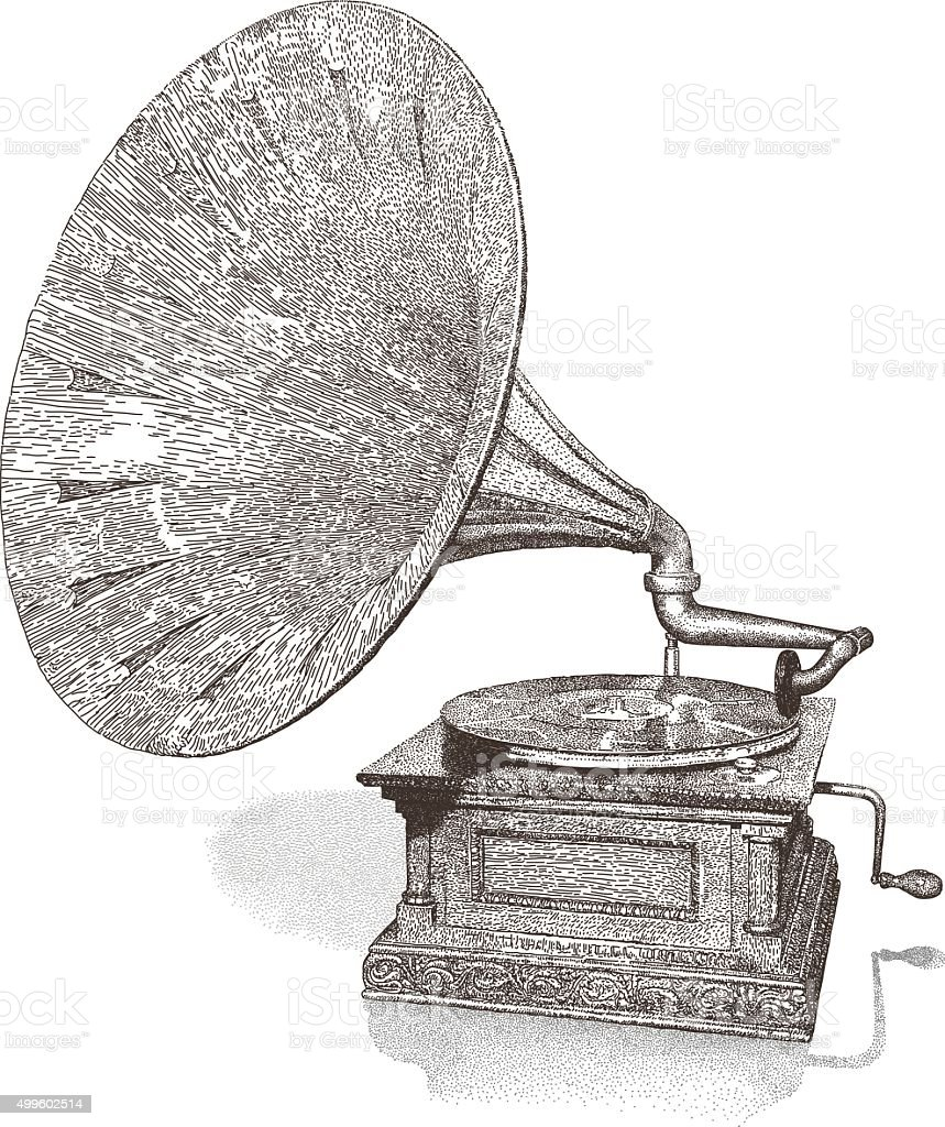 Gramophone vector art illustration