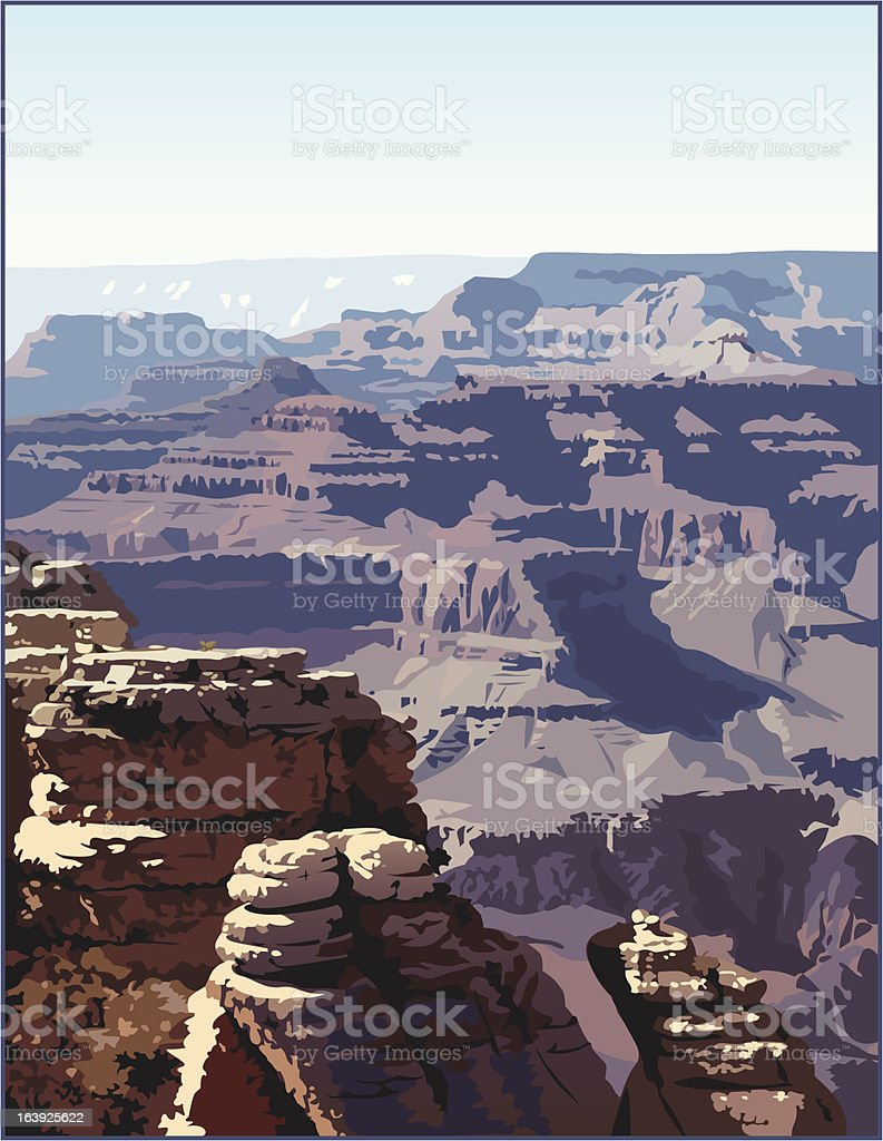 Grand Canyon vector art illustration