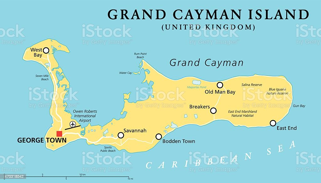 Cayman Island Map Vector