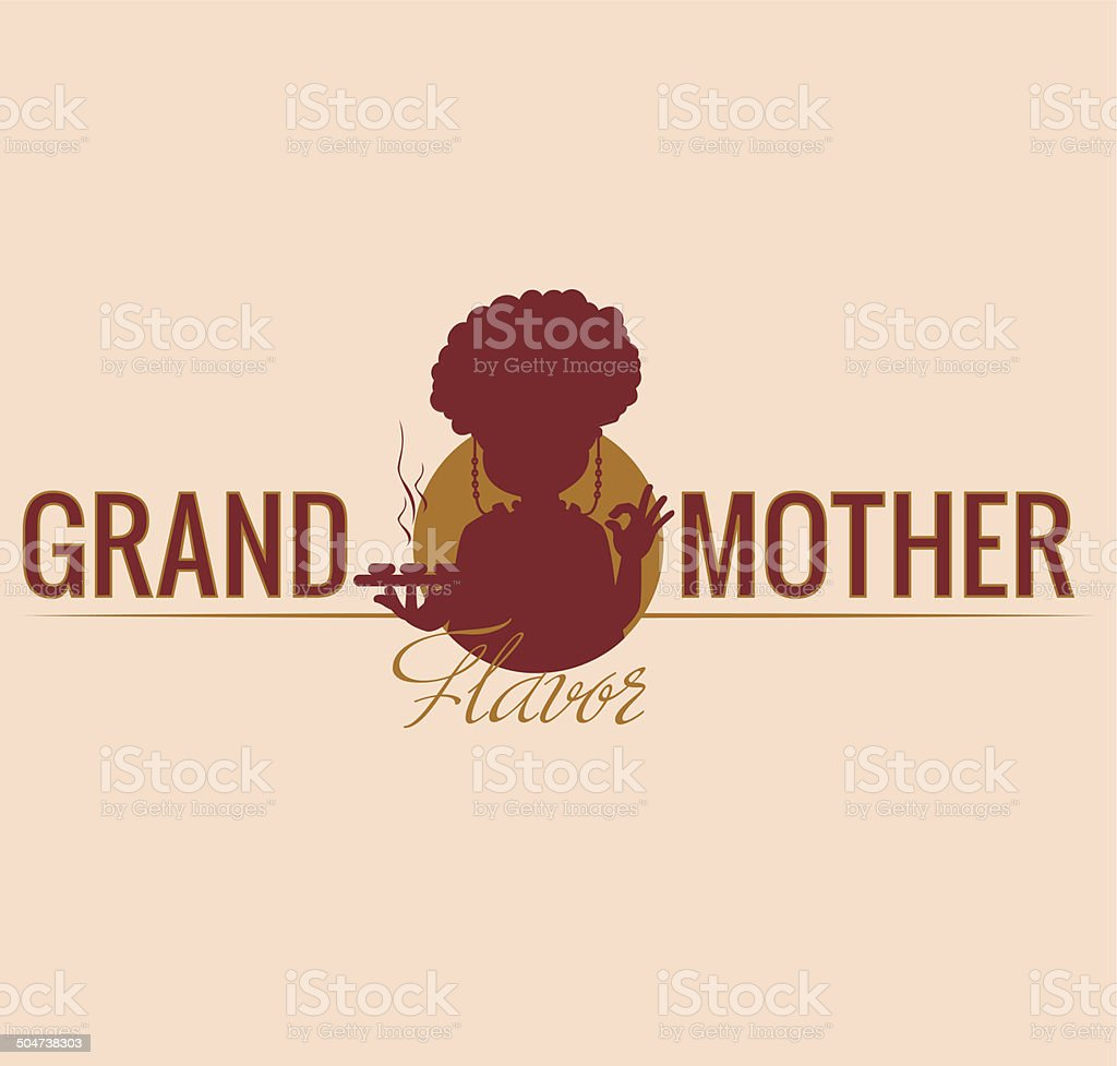 Grand Mother and Flavor royalty-free stock vector art