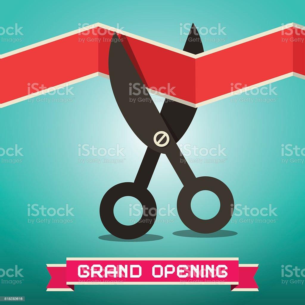 Grand Opening Illustration vector art illustration