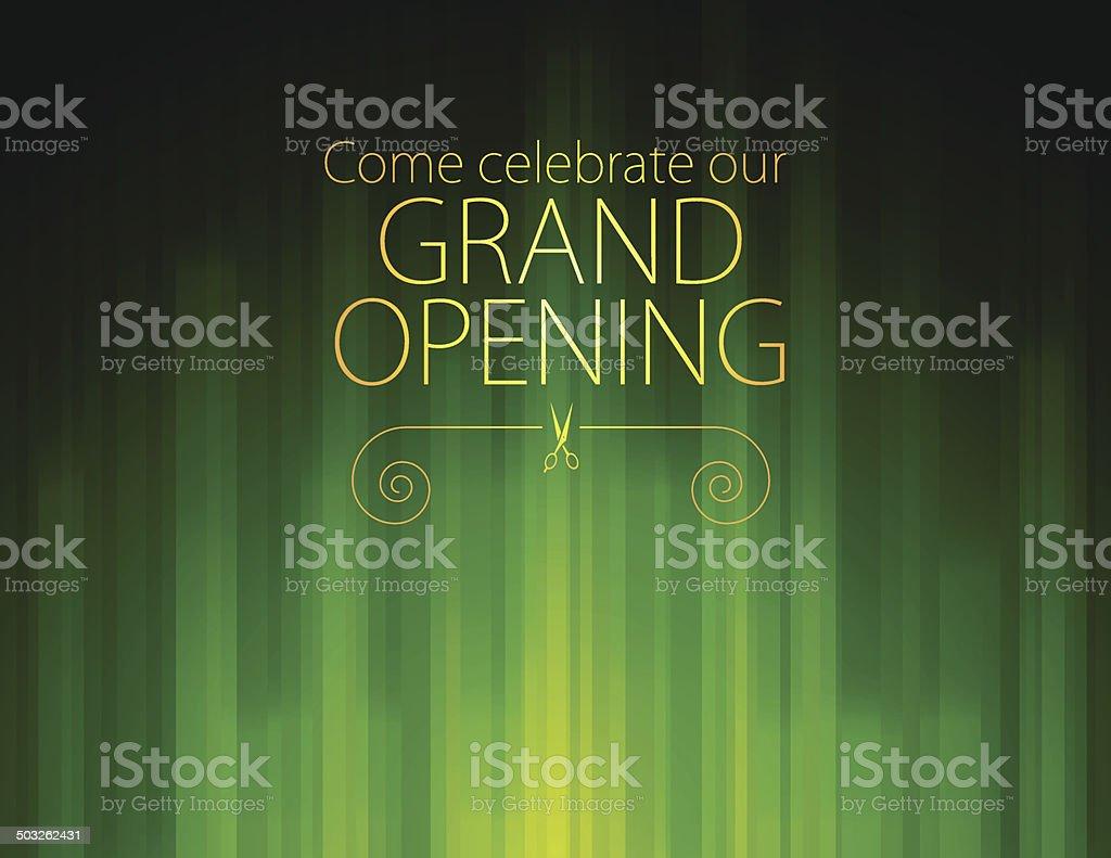 Grand Opening Invitation royalty-free stock vector art