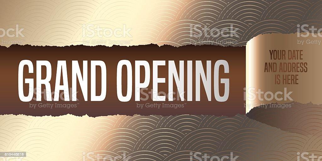 Grand opening vector banner, illustration, flyer, poster vector art illustration