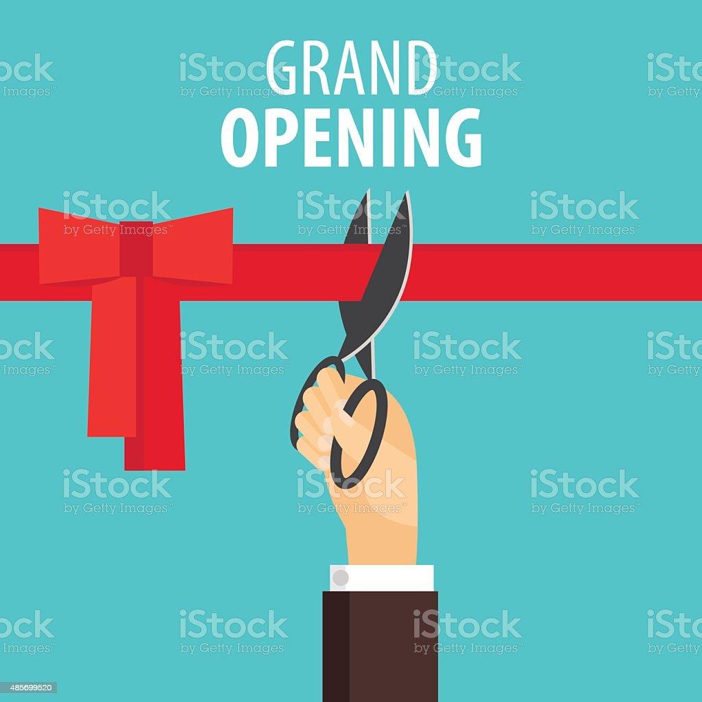Grand opening vector art illustration