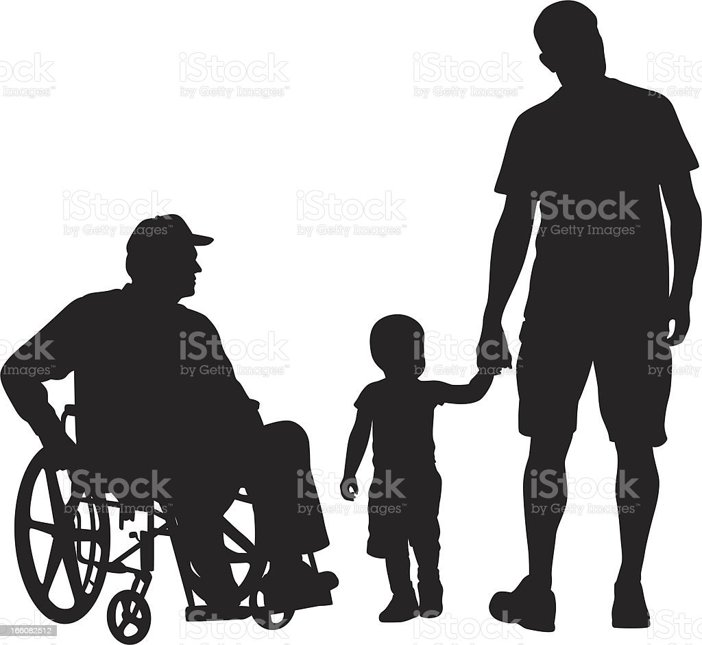 Grand Pa'n Grandson Vector Silhouette royalty-free stock vector art