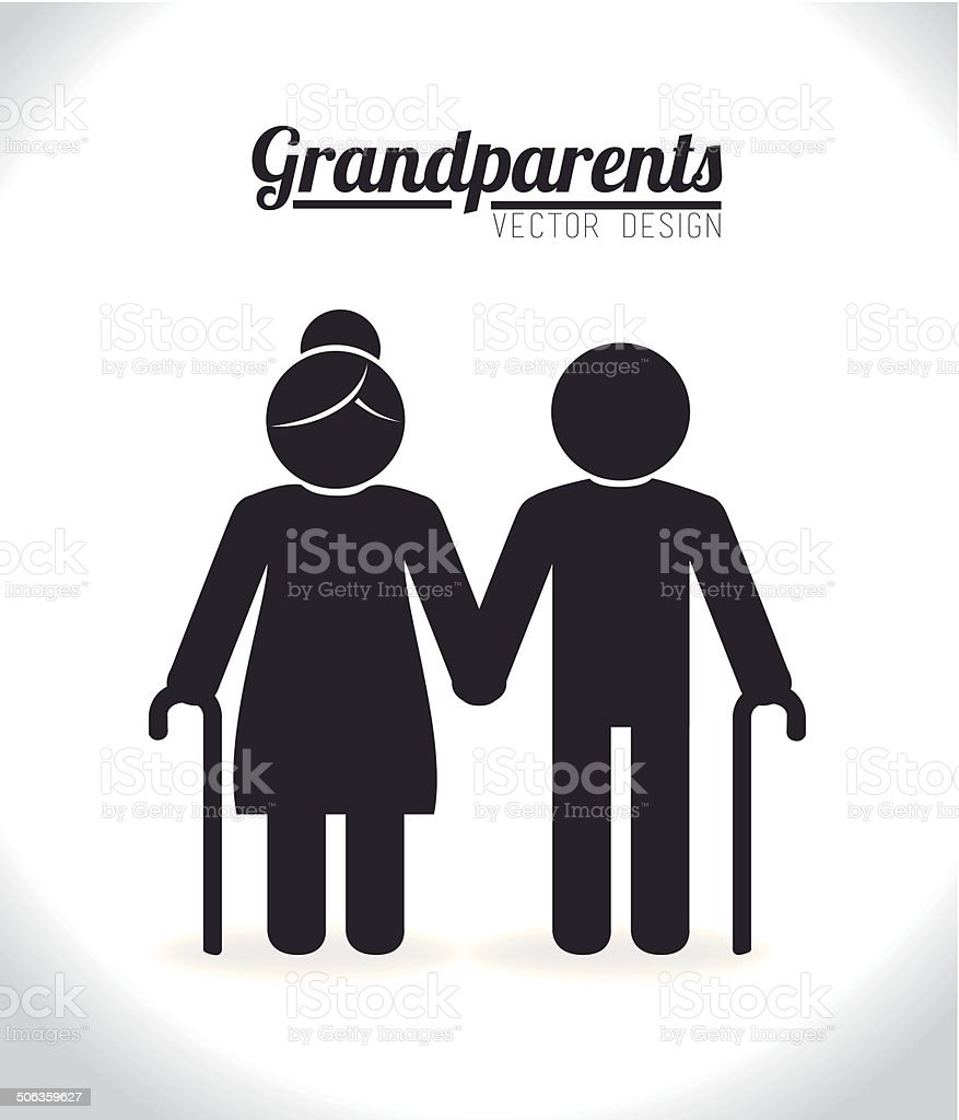 Grand parents design vector art illustration