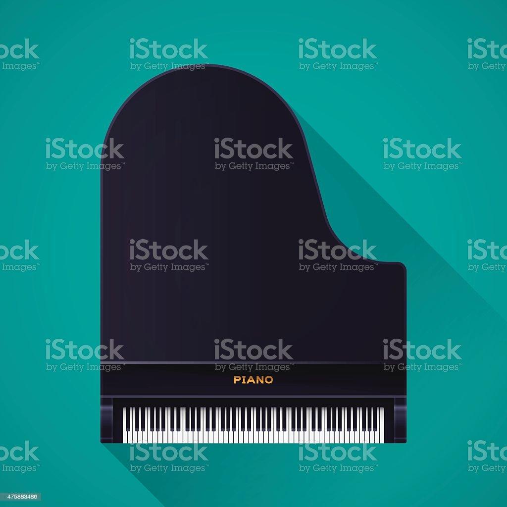 Grand Piano vector art illustration