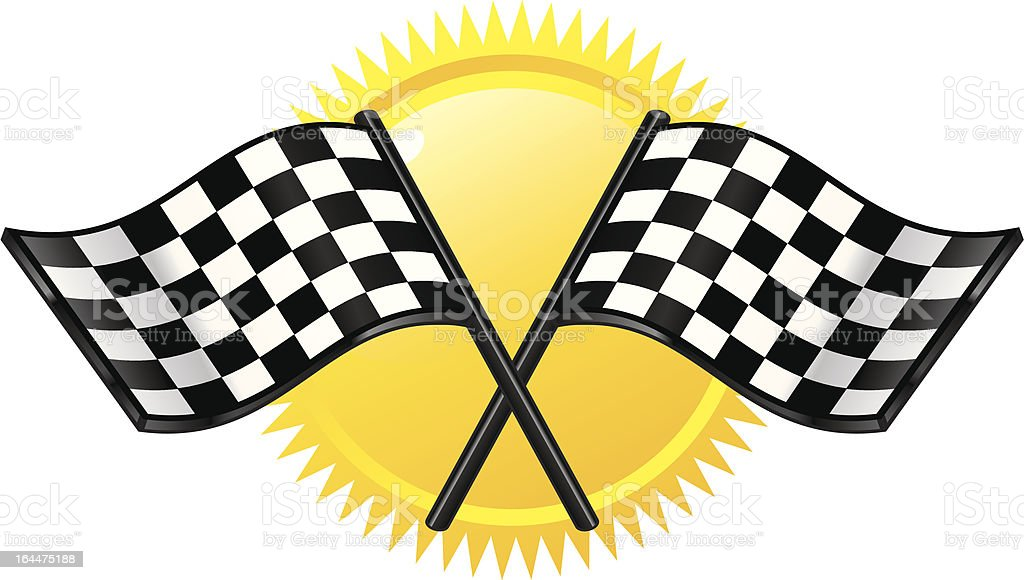 grand prix flag vector art illustration