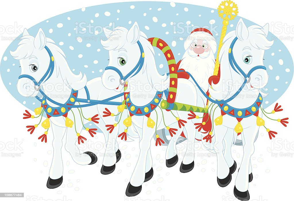 Grandfather Frost royalty-free stock vector art