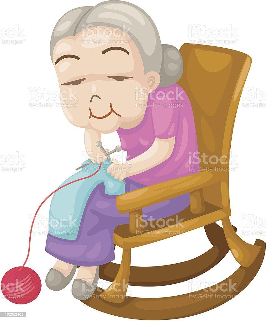 grandmother royalty-free stock vector art