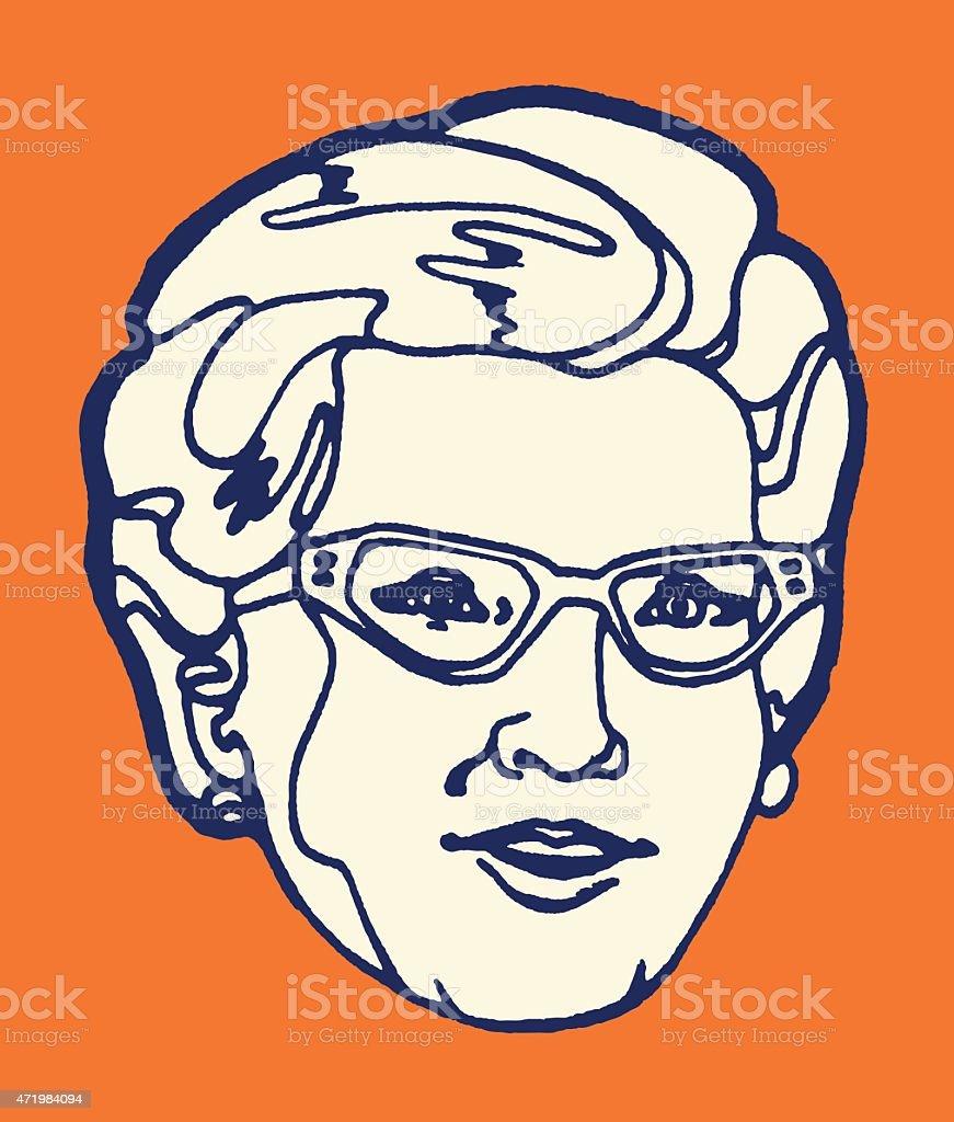 Grandmother vector art illustration