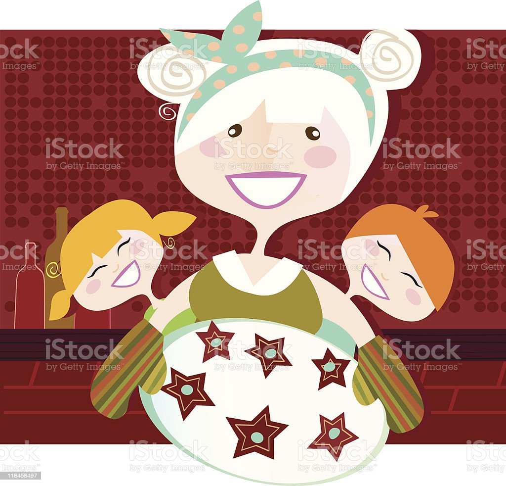 Grandmother with sweet cookies royalty-free stock vector art