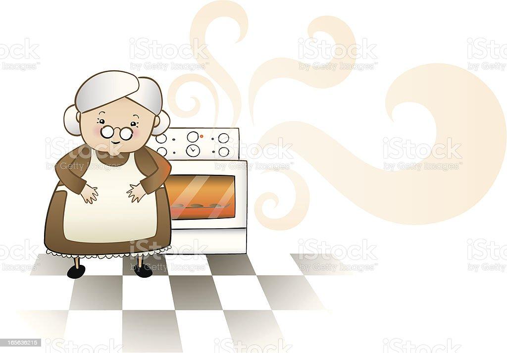 Grandmothers homebaked goodness vector art illustration