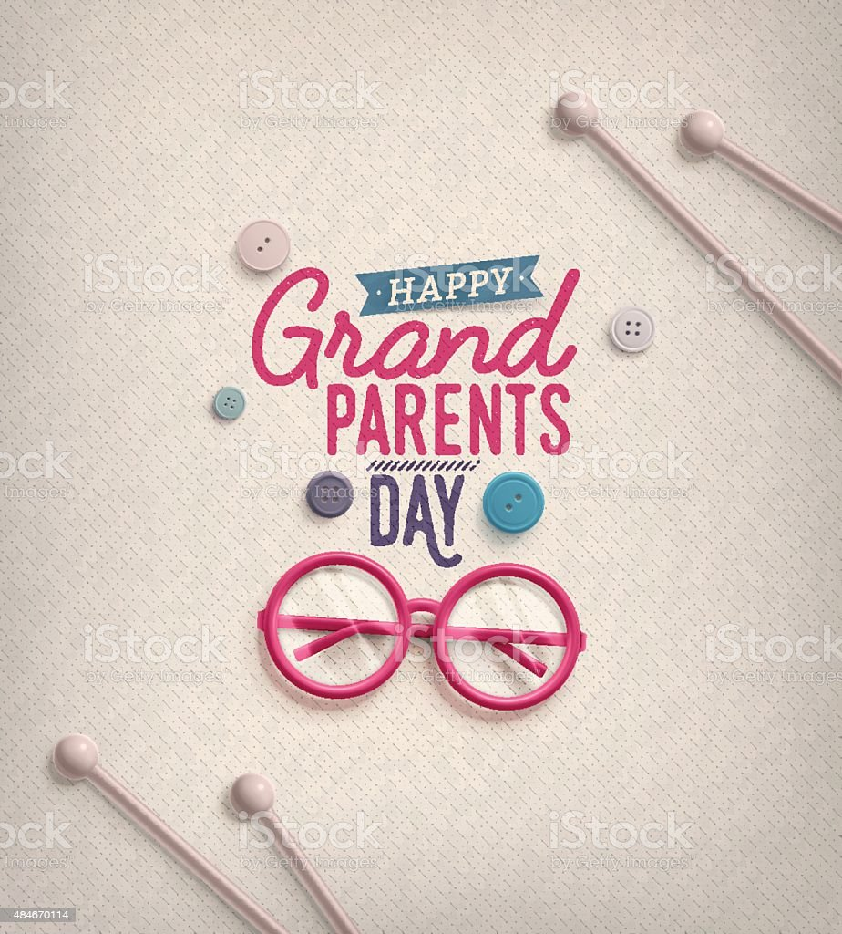 Grandparents Day vector art illustration