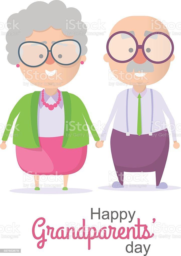 Grandparents Day. Vector illustration vector art illustration